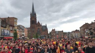 Belgique-Panama: la place du Miroir bondée pour l'entrée en lice des Diables au Mondial