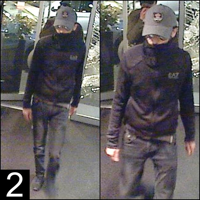 Au moment des faits, il portait des lunettes de soleil, un jean, une veste  foncée de marque « Emporio Armani » et une casquette grise avec un logo. 06e6bd57538