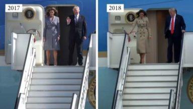 Donald Trump n'a pas eu droit au tapis rouge à Bruxelles : le contraste avec son arrivée en 2017 est saisissant