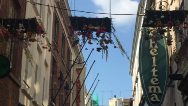 Bruxelles : des décorations florales et végétales suspendues dans l'Îlot Sacré