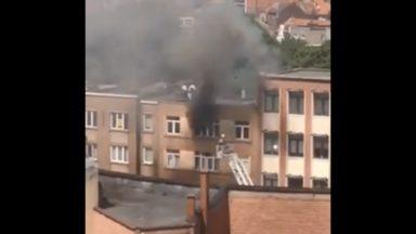 Schaerbeek : un blessé léger suite à un incendie dans un immeuble de la chaussée de Louvain