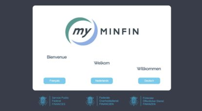 Page Accueil Tax on Web My Minfin - SPF Finances
