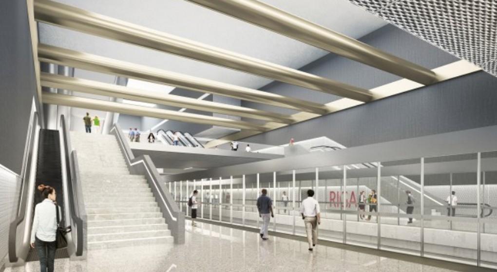 Station de métro Riga - Plan Beliris