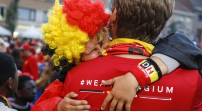 Supporters Diables rouges Déception - Triste - Belga Thierry Roge