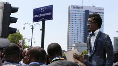 Plus de 300 personnes à l'inauguration du square Lumumba à Bruxelles-Ville samedi