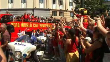 Les Diables Rouges ont parcouru Bruxelles sous les applaudissements