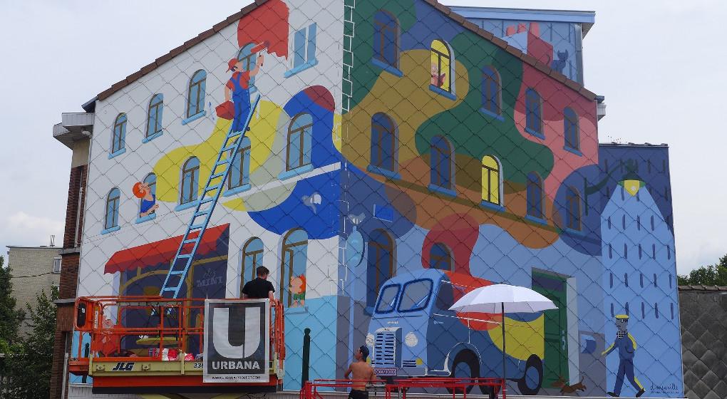 Auderghem: une nouvelle peinture murale a fait son apparition