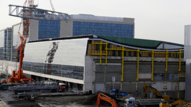 Le toit du Sky Hall de Brussels Airport se pare d'une nouvelle structure