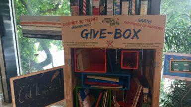 Etterbeek : des Give-Box pour déposer et donner gratuitement du matériel scolaire