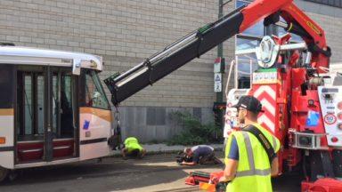 La Stib dispose de deux camions uniques en cas de déraillement de tram