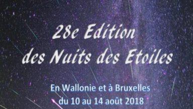 """La 28e édition des """"Nuits des Étoiles"""" se tiendra du 10 au 14 août : une soirée sera organisée à Woluwe-Saint-Pierre"""
