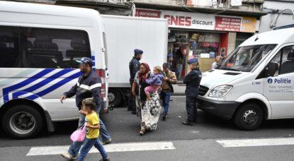 Squat Saint-Josse - Police Évacuation - Belga Eric Lalmand