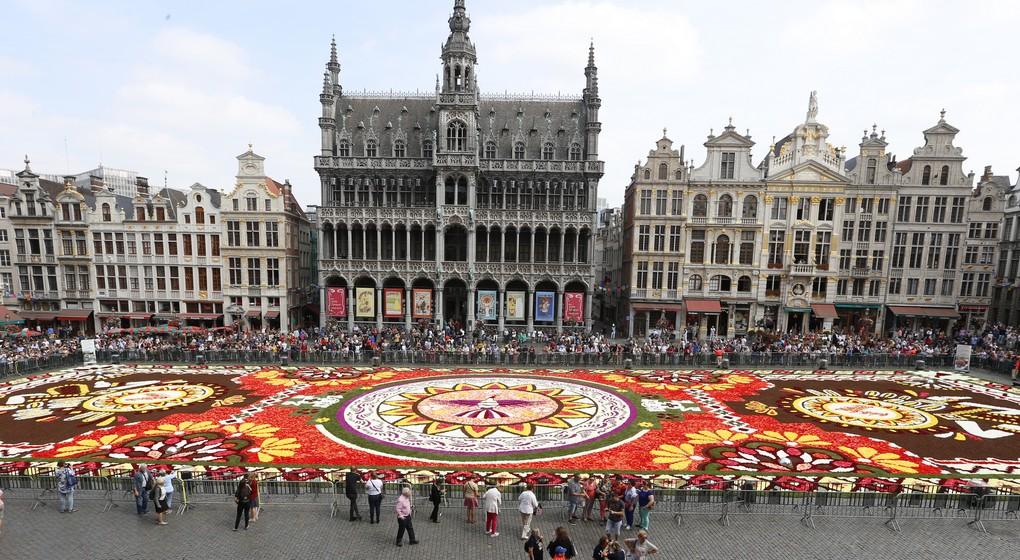 Plus de 20.000 personnes ont vu le tapis de fleurs de la Grand-Place depuis  le balcon de l'hôtel de Ville de Bruxelles   BX1