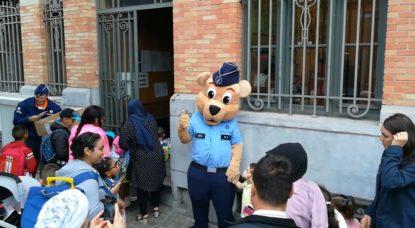 Mascotte Police Bruno Écoles - Belga