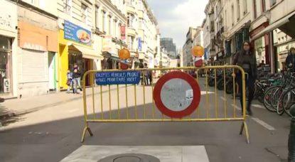 Rue piétonne - Journée sans voiture - Bruxelles - BX1