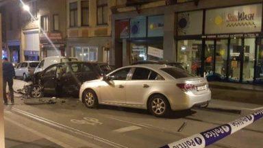 Un accident fait deux blessés à Schaerbeek