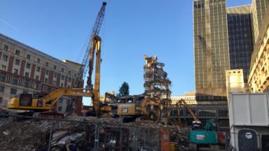 Les travaux de démolition du Parking 58 touchent à leur fin (photos)