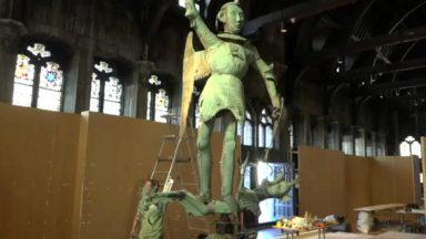 La girouette de Saint-Michel trône dans la Maison du Roi