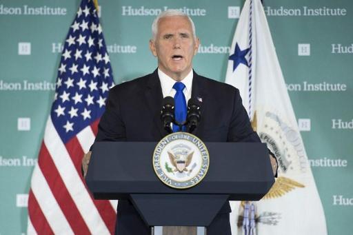 Le vice-président américain Mike Pence attaque frontalement Pékin