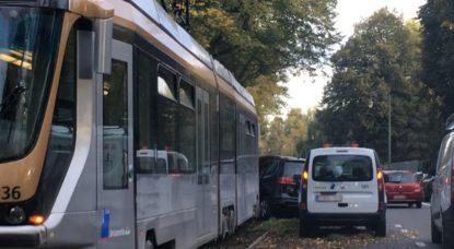 Accident Auderghem - Tram 8 Boulevard du Souverain
