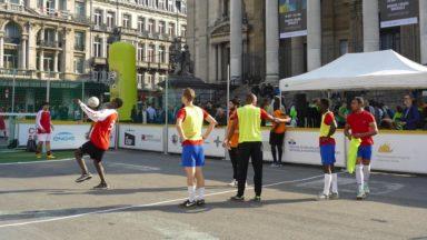 Journée de lutte contre la pauvreté : la Belgian Homeless Cup se joue sur la place de la Bourse