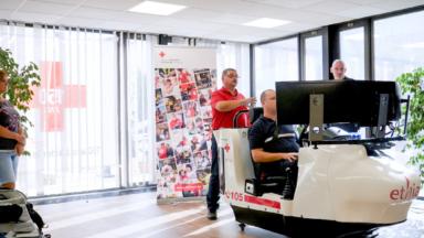 La Croix-Rouge dispose d'un simulateur de conduite pour les véhicules d'urgence