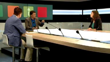 Mathilde El Bakri (PTB) et Johan Van den Driessche (N-VA) présentent leurs idées pour Bruxelles