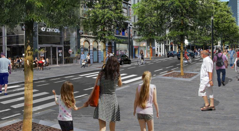boulevard adolphe max - Réaménagement proposé - Ville de Bruxelles