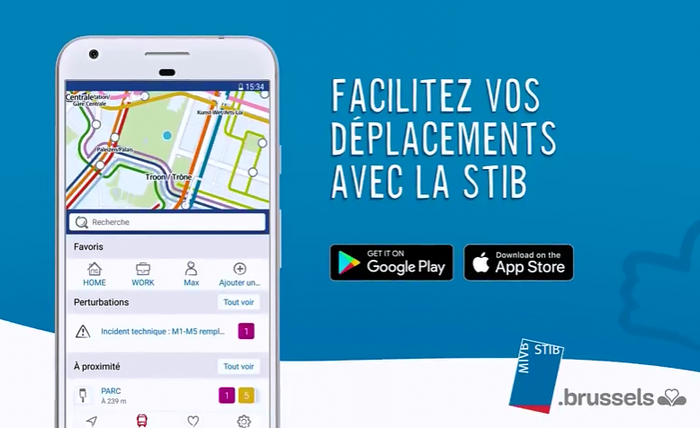STIB IPHONE APPLICATION CONTROLE TÉLÉCHARGER