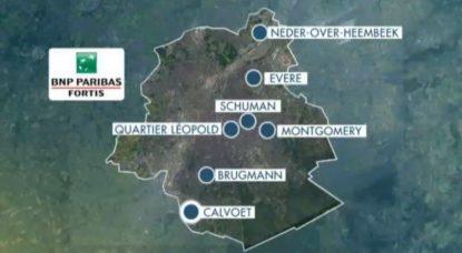 Carte Banques fermées en 2019 - BNP Paribas Fortis