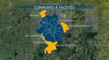 Carte Communes à Facilités - BX1