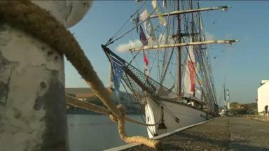Le trois-mâts historique Le Marité jette l'ancre à Bruxelles