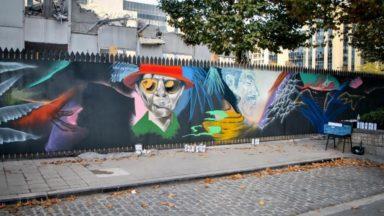 """Bruxelles : une œuvre """"monumentale"""" d'Arnaud Kool sur le site d'un chantier du quartier Nord"""