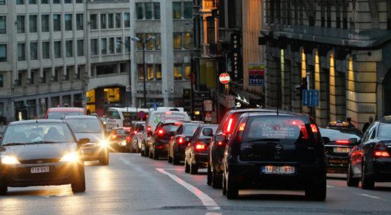 Voiture Automobile Files Véhicules Embnouteillages Bruxelles - Belga Bruno Fahy