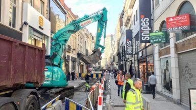 Bruxelles-Ville : les travaux de réaménagement de la rue Neuve ont commencé