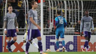 Europa League : Anderlecht battu au Fenerbahçe et éliminé dès la 4e journée