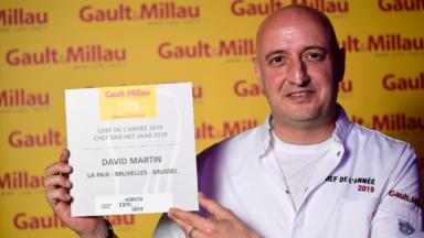 """David Martin de """"La Paix"""" à Anderlecht désigné chef de l'année 2019 par le Gault&Millau"""