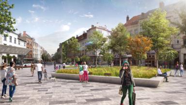 Début des travaux de réaménagement de la place Fernand Cocq à Ixelles