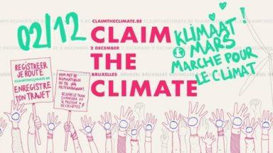 Voici toutes les informations pratiques sur la Marche pour le Climat de ce dimanche à Bruxelles