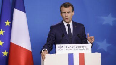 Le président français Emmanuel Macron visitera Molenbeek et Bruxelles les 19 et 20 novembre