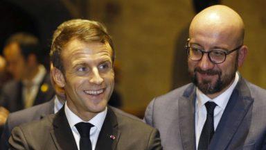 Suivez la conférence d'Emmanuel Macron et Charles Michel en direct de Louvain-La-Neuve (vidéo)
