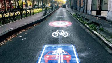 Schaerbeek: nouvelle rue cyclable le long du Boulevard Lambermont
