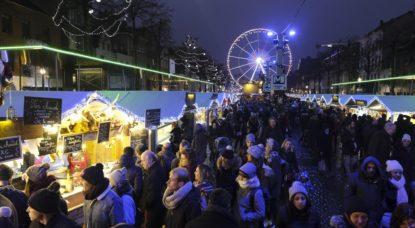 Plaisirs d'hiver Marché de Noël Bruxelles 2017 - Illustration Belga Nicolas Maeterlinck