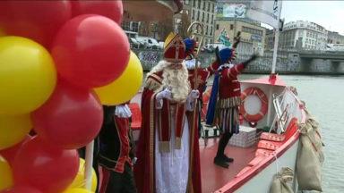 Saint-Nicolas était au port de Bruxelles ce vendredi matin