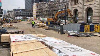 Bruxelles : les travaux débutent de l'autre côté du boulevard Adolphe Max