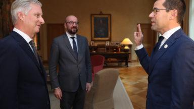 Sander Loones (N-VA) prête serment comme ministre de la Défense et de la Fonction publique
