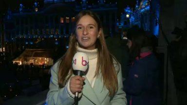 Bruxelles : la Grand-Place se teint de bleu pour les 70 ans de la Déclaration des droits de l'homme