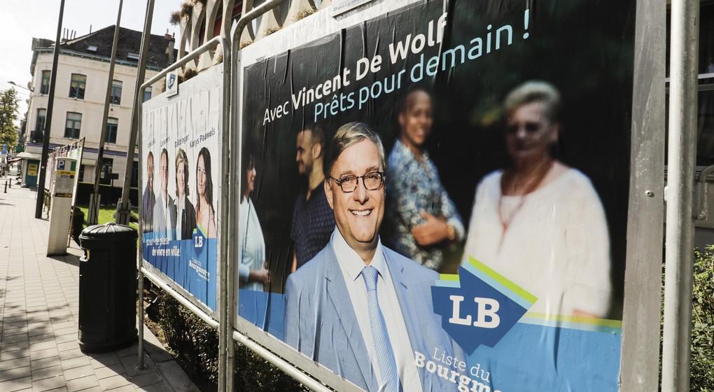 Etterbeek - Vincent De Wolf - Panneaux électoraux - Belga Thierry Roge