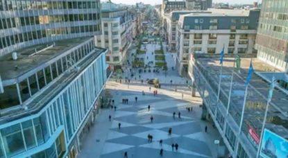 Piétonnier Boulevard Anspach - Bruxelles - Projection 2020