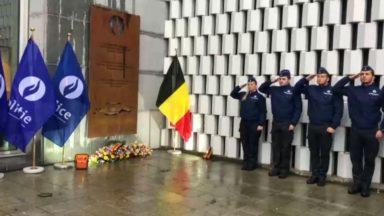Ixelles : une plaque commémorative dévoilée en hommage aux policiers morts en service